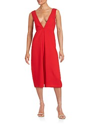 Bcbgeneration Plunging V Neck Woven Jumpsuit Cardinal