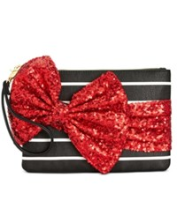 Betsey Johnson Large Sequin Bow Wristlet Red