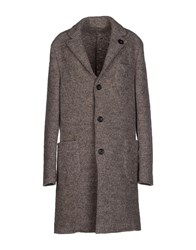 Lardini Coats And Jackets Coats Women Dove Grey