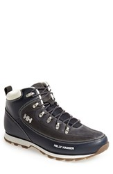 Men's Helly Hansen 'The Forester' Water Repellent Leather Boot Navy Vaporous Grey Gum
