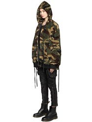 Faith Connexion Hooded Camouflage Bomber Jacket
