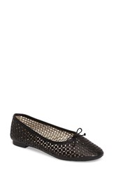 Louise Et Cie Women's Congo Perforated Flat Black Leather