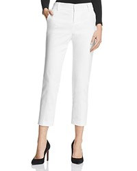 Alice Olivia Stacey Cropped Slim Pants White