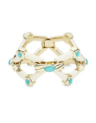 House Of Harlow Stone Accented Openwork Statement Bracelet Ivory