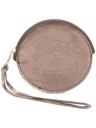 Il Bisonte Round Shape Wallet Metallic