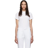 Thom Browne White Relaxed Fit Side Slit T Shirt