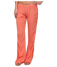 Rip Curl Earth Angel Pants Hot Coral Women's Casual Pants Red