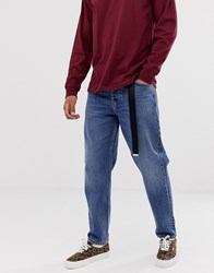 Carhartt Wip Newel Denim Pant Relaxed Tapered Fit In Blue