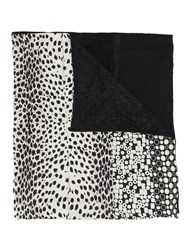 Pierre Louis Mascia Animal Print Scarf Black