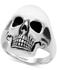 Effy Men's Skull Ring In Sterling Silver And Black Rhodium Plate