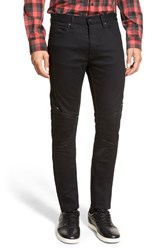 Men's Hugo '734 24' Skinny Fit Moto Jeans Black