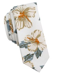 Original Penguin Floral Cotton Tie Taupe