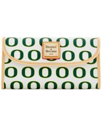 Dooney And Bourke Oregon Ducks Large Continental Clutch White