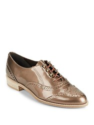 Stuart Weitzman Darling Nutani Leather Oxfords Brown