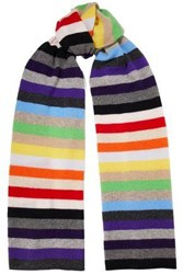 Madeleine Thompson Kotewall Striped Cashmere Scarf Multicolor
