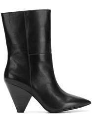 Ash Tapered Heel Ankle Boots Black
