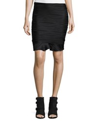 Opening Ceremony Wavy Stripe Ruffle Mini Skirt Black