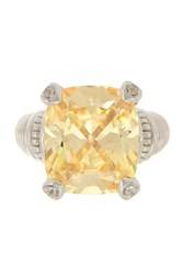 Judith Ripka Large Fontaine Canary Crystal Ring Yellow