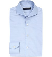 Lardini Oxford Cotton Shirt Blue