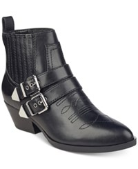 Guess Women's Violla Western Booties Women's Shoes Black