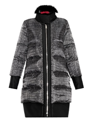 Moncler Gamme Rouge Janis Fur Trimmed Quilted Down Coat