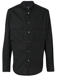 Tom Rebl Pocket Shirt Cotton Spandex Elastane Black