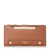 Dune Kessica Slim Line Purse With Removable Card Holde Tan