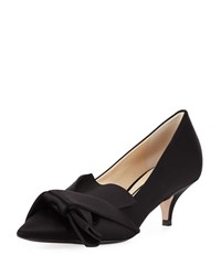 N 21 Satin Pumps With Knotted Bow Black