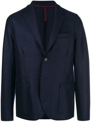 Harris Wharf London Boxy Blazer Jacket Blue