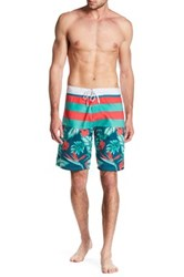 Burnside Floral Board Short Blue