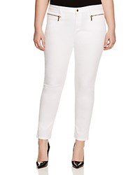 Michael Michael Kors Plus Skinny Zip Jeans In White