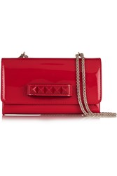 Valentino Patent Leather Shoulder Bag Red