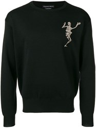 Alexander Mcqueen Embellished Skeleton Sweatshirt Black