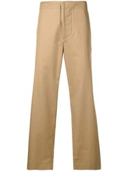 Oamc Drawstring Straight Trousers Neutrals