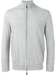 N.Peal 'The Hyde' Full Zip Sweater Grey