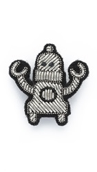 Macon And Lesquoy Robot Pin Silver