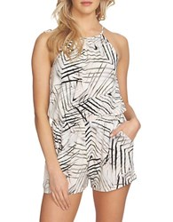 1.State Gathered Halter Romper Cloud