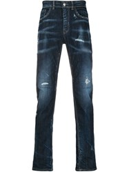 Frankie Morello Distressed Straight Leg Jeans 60