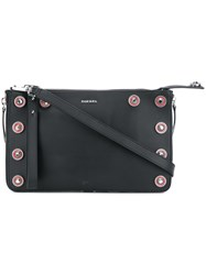 Diesel Le Trasy Clutch Bag Calf Leather Black
