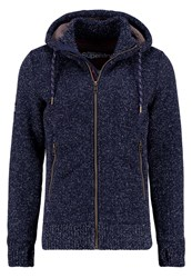 Superdry Expedition Cardigan Navy Grit Dark Blue