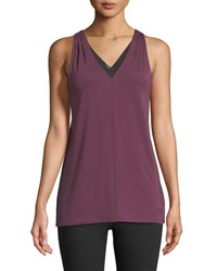 The North Face Vision Performance Tank With Mesh Purple