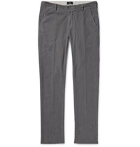 Hugo Boss Fine Wale Cotton Blend Corduroy Trousers Gray