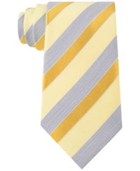 Geoffrey Beene Men's Stripe Of The Moment Classic Tie Lemon