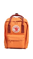 Fjall Raven Fjallraven Kanken Mini Backpack Burnt Orange Deep Red