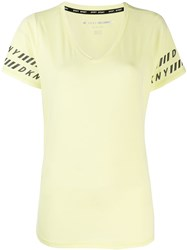 Dkny Logo Trim T Shirt Yellow