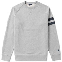 Lanvin Distressed Grosgrain Crew Sweat Grey