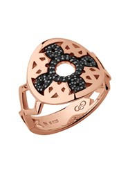 Links Of London Timeless 18Kt Rose Gold Vermeil And Black Sapphire Rose Gold