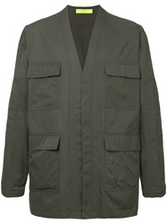 Ex Infinitas Cargo Pocket Military Jacket Grey