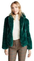 Keepsake Stay With Me Faux Fur Coat Emerald