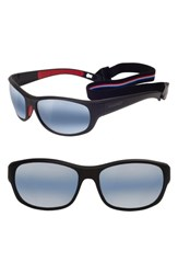 Vuarnet Medium Cup 62Mm Polarized Sunglasses Matt Black Red Matt Black Red